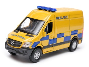 Mercedes-Benz Sprinter Panel Van karetka AMBULANCE 1:34-39 model WELLY