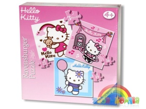 Ravensburger puzzle 3w1 Hello Kitty