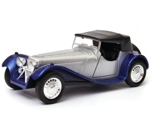 Jaguar SS 100 soft top 1:34-39 model WELLY