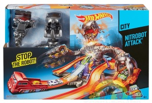 tor HOT WHEELS zestaw Atak Nitrobota