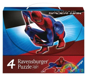 Puzzle 4w1 w walizce The Amazing Spider-Man