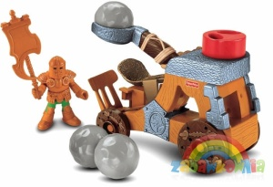 Fisher Price IMAGINEXT MACHINA OBLĘŻNICZA - KATAPULTA + gratis