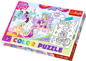 Trefl puzzle i malowanka 2w1 My Little Pony  36516