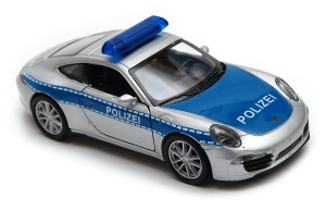 Porsche 911 (991) Carrera S Policja  1:34 - 1:39 model WELLY
