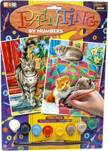 PAINTING BY NUMBERS Twin Pack - Koty, kotki i kociaki