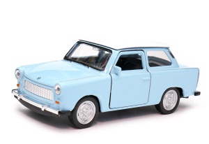 Trabant 601 kolorowy dach 1:34 - 1:39 model WELLY