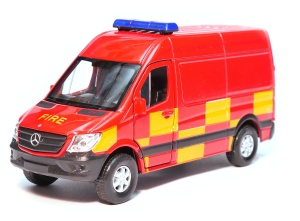 Mercedes-Benz Sprinter Panel Van straż pożarna 1:34-39 model WELLY