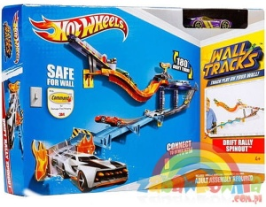 HOT WHEELS Ścianowce WALL TRACKS DRIFT RALLY SPINOUT W2105