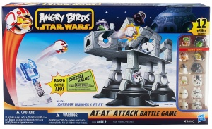 Angry Birds Star Wars Jenga AT-AT ATTACK BATTLE GAME