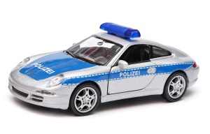 Porsche 911 (997) Carrera S Coupe Policja  1:34 - 1:39 model WELLY