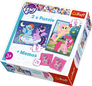Trefl puzzle 2w1 + Memos - My Little Pony