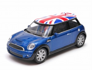 Mini Cooper GB - model Welly skala 1:43