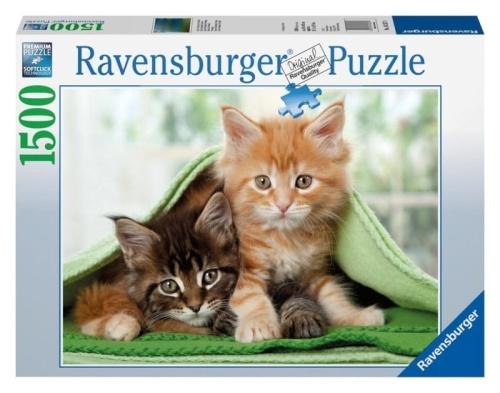 2b302c36ff39f Ravensburger puzzle 1500 elementów Kocykowi kumple - kotki ZABAWKOWNIA