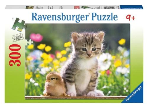 8d81713df71d2 Ravensburger puzzle 300 elementów Mali Przyjaciele - kotek i kurczaczek