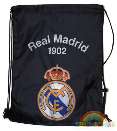 3deb79bb0386e St. Majewski - worek na obuwie Real Madryt czarny ZABAWKOWNIA