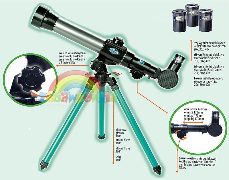 Teleskop astromaster az obrotowa mapa nieba do pierwsze