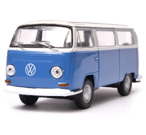 Volkswagen T2 Bus z białym dachem  1972 1:34-39 model WELLY