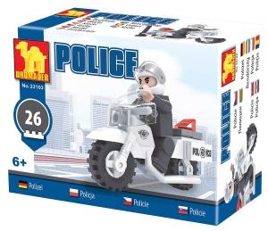 8536b961a DROMADER 23103 klocki POLICJA motocykl policyjny 26 elementów