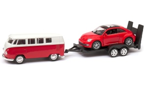 Volkswagen Classical Bus i The Beetle convertible laweta 1:34-39 model WELLY (1)