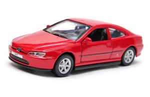 Peugeot 406 coupe - model Welly skala 1:34-39