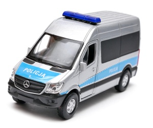 Mercedes-Benz Sprinter policja 1:34-39 model WELLY
