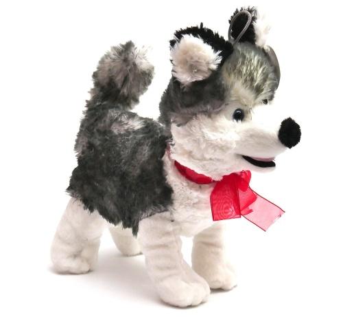duży pies maskotka piesek haski 30cm